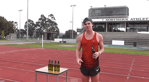 Beer Mile World Record