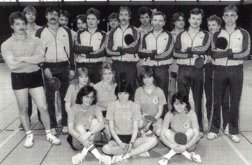 Die Meistermannschaften der Damen I und Herren I und II der Spielrunde 1984/85