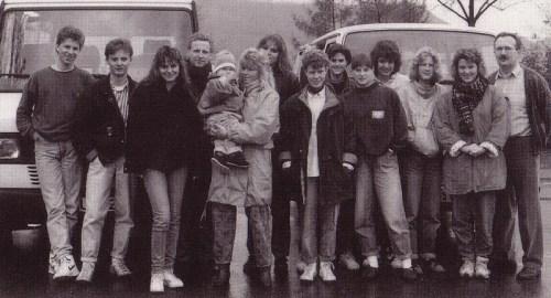 Abfahrt zur Jugendfreizeit in Katrineholm zu Ostern 1990 - eine unvergessliche und schöne Zeit