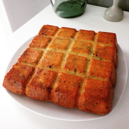 gâteau au poulet, lardons ou jambon
