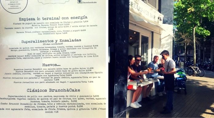 Brunch in Brunch & Cake Barcelona