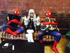 Spiderman, Black Cat, and Spiderman