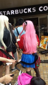 Cosplayers are not allowed to sit inside Starbucks
