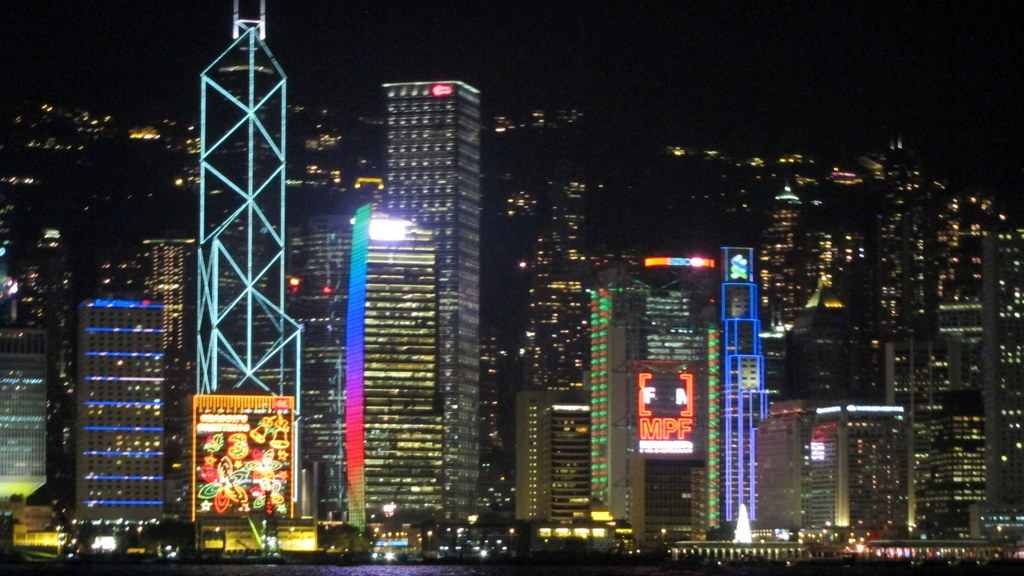 I.M. Pei's Bank of China Tower on the left | Hong Kong skyline & architecture