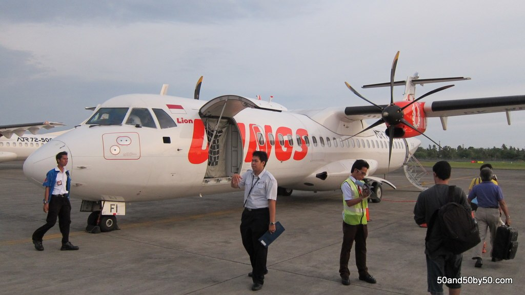 Wings Air - a prop plane to get us from Bali to Java