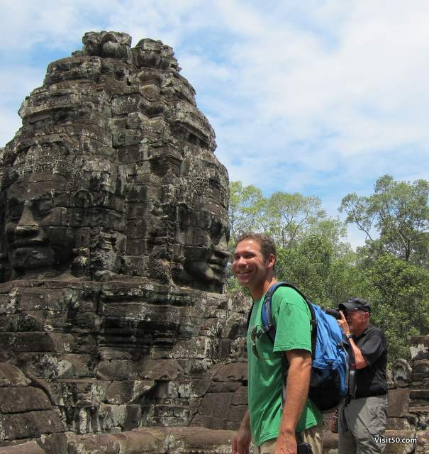 face to face at the Bayon temples