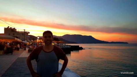 Nearly every afternoon had an impressive sunset like this in Crete
