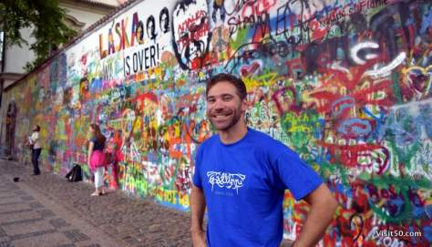 Peace at the Lennon Wall in Prague