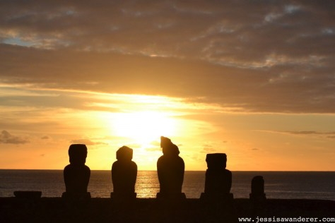 Sunset Easter Island