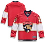 Florida Panthers Fanatics Branded Youth Home Replica Blank Jersey - Red