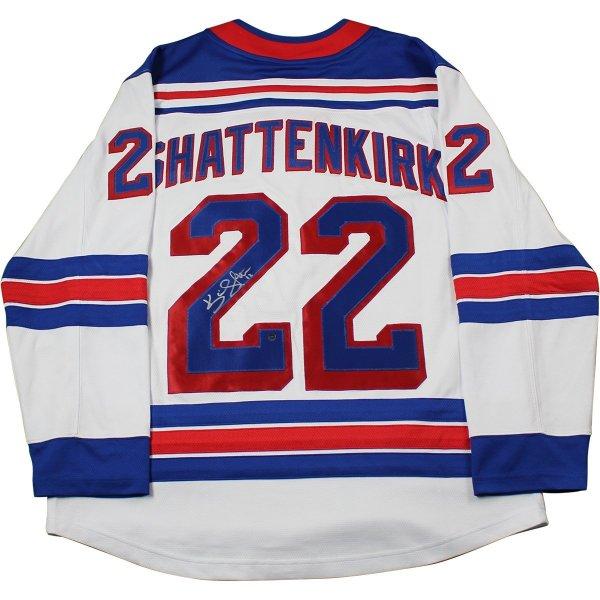 wholesale dealer b0f8c 52b82 Kevin Shattenkirk Signed New York Rangers Adidas White Breakaway Jersey