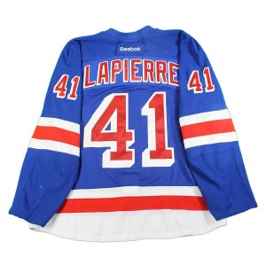 Maxim Lapierre New York Rangers 2016-2017 Pre-Season Game Used #41 Blue Jersey (Size 58)