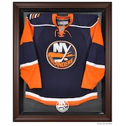 New York Islanders Brown Framed Logo Jersey Display Case
