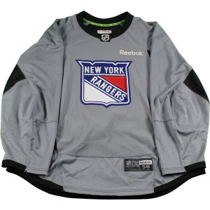 New York Rangers Grey Used Shield Logo Practice Jersey (Size 58)