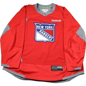 New York Rangers Red Issued Shield Practice Jersey (Size 58)