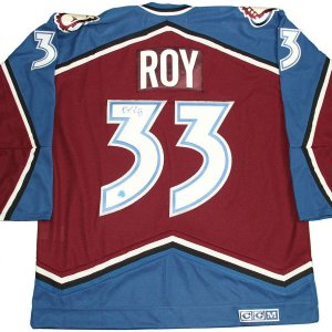 Patrick Roy Colorado Avalanche Signed Retro CCM 2001 Stanley Cup Jersey (AJ Sports Auth)
