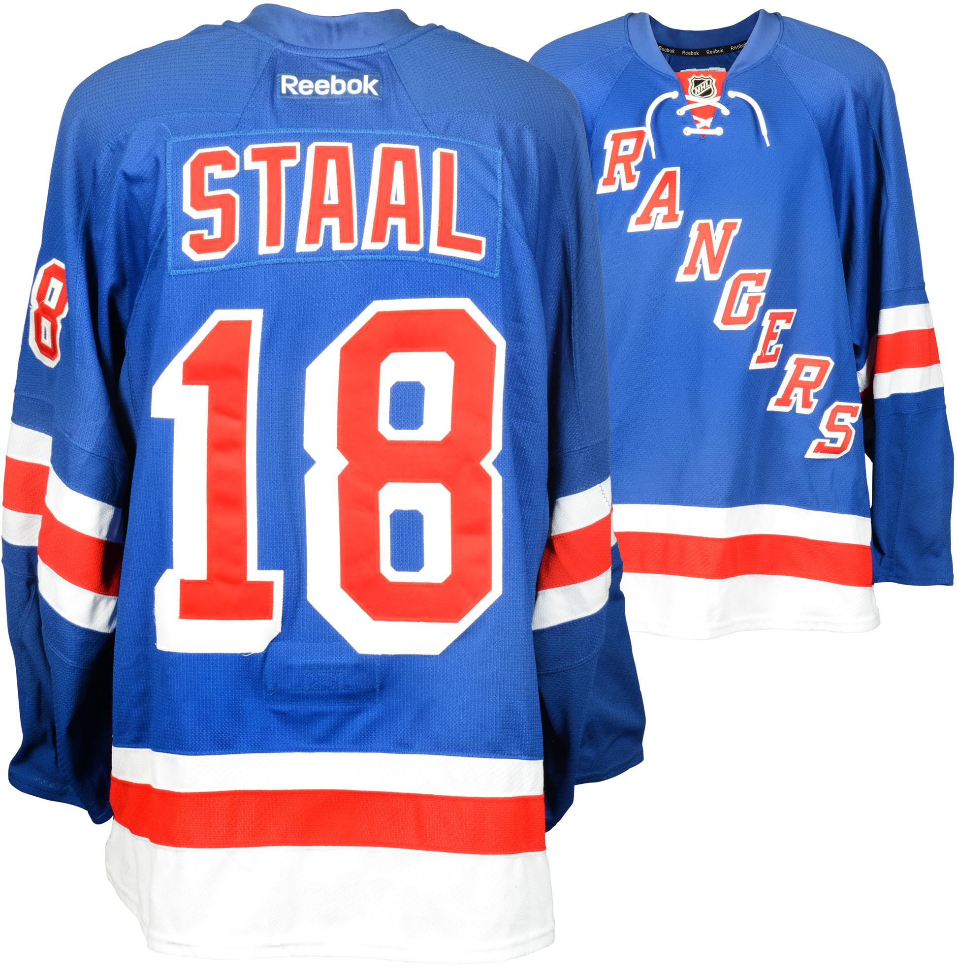 the latest 5ceaa bf5e9 Marc Staal New York Rangers Game-Used Rangers Blue Jersey From The  2014-2015 Season · The World Table Hockey Association, Inc.