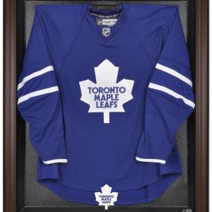 Toronto Maple Leafs (1970-2016) Brown Framed Logo Jersey Display Case