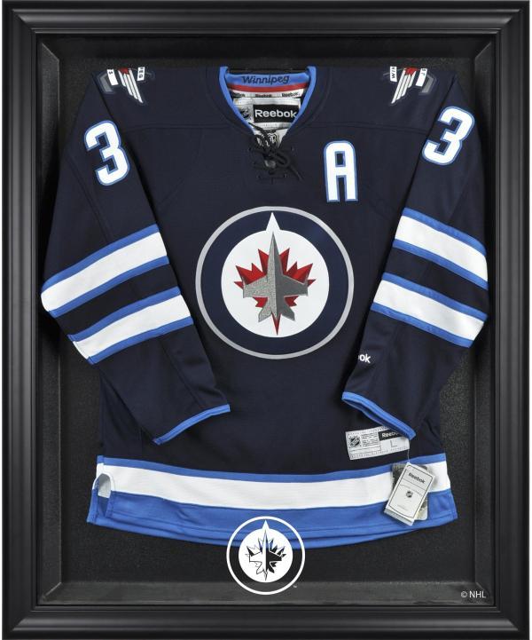 Winnipeg Jets Black Framed Logo Jersey Display Case