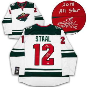 Signed Eric Staal Jersey - White Fanatics 2018 All Star Note