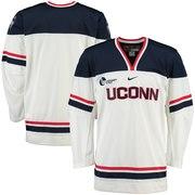 UConn Huskies Nike NCAA Replica Hockey Jersey - White