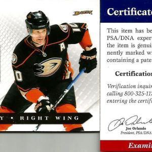 2011 Luxury Suite Corey Perry Anaheim Ducks Signed Auto Jersey Card COA - PSA/DNA Certified