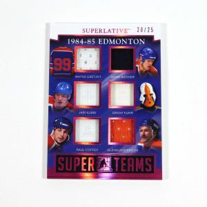 2017 In The Game Superlative 84-85 Oilers Gretzky/Messier 6 Jerseys Super /25