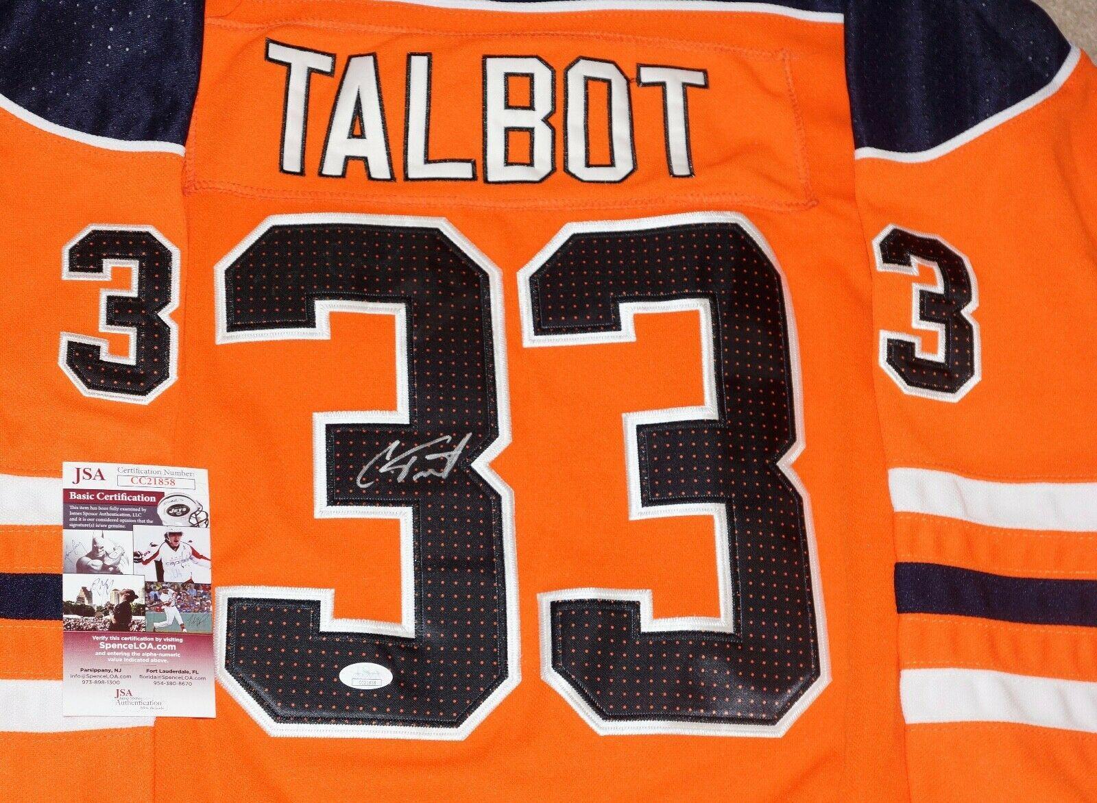 pretty nice 5a25b a385b Signed Cam Talbot Jersey - #33 + COA #CC21858 - JSA Certified · The World  Table Hockey Association, Inc.