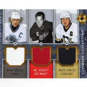 2008-07 Ultimate Collection Gretzky / Howe / Lemieux Triple Jerseys /25