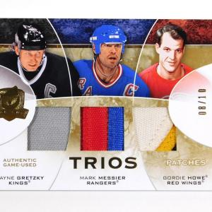 2008-09 UD The Cup Gretzky / Messier / Howe Trios Triple Patch Jersey 08/10