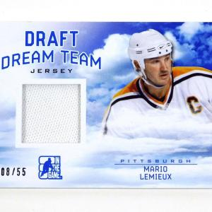 2014-15 In The Game ITG Draft Dream Team Mario Lemieux Blue Jersey /55