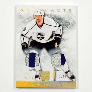 2012-13 Artifacts Jerseys Patch Gold Spectrum Drew Doughty #22 Relic #'d 13/15