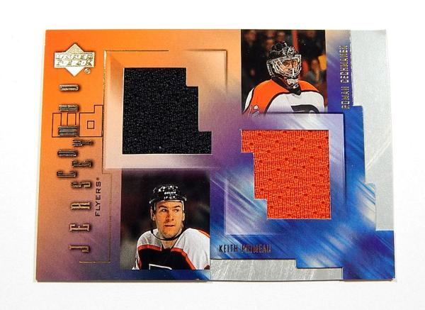 2001-02 Upper Deck Game Jerseys Keith Primeau Roman Cechmanek #C-PC Dual Relic