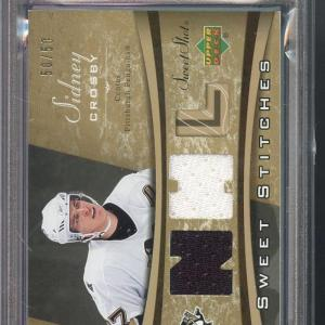 2006 Upper Deck Sweet Shot Sidney Crosby Stitches Game-Used Jersey Card 7 - PSA/DNA Certified