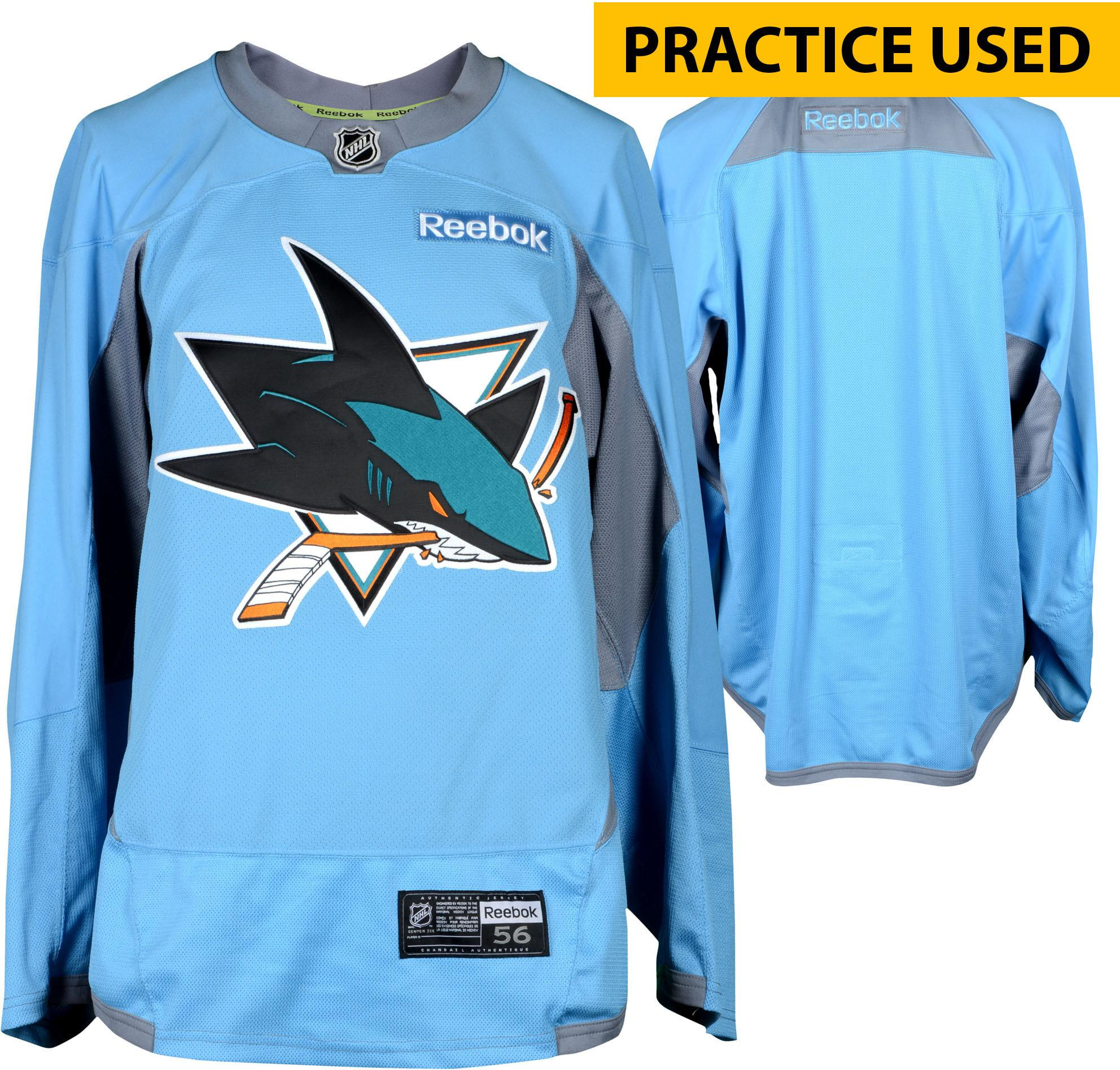 buy online 05ad0 51528 San Jose Sharks Practice-Used Sky Blue Reebok Jersey - Size 58 - Fanatics  Authentic Certified · The World Table Hockey Association, Inc.