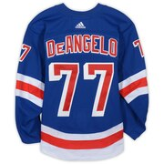 Tony Deangelo New York Rangers Game-Used #77 Blue Set 2 Jersey from the 2018-19 NHL Season - Size 56