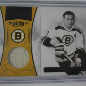 2010-11 Panini Dominion #6 JOHNNY BUCYK Game Used Jersey Patch Card #d 74/99