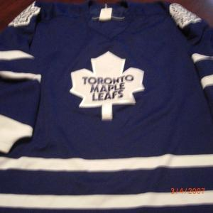 Toronto Mapleleafs Vintage Used Size X-large Blue Good Shape Hockey Jersey