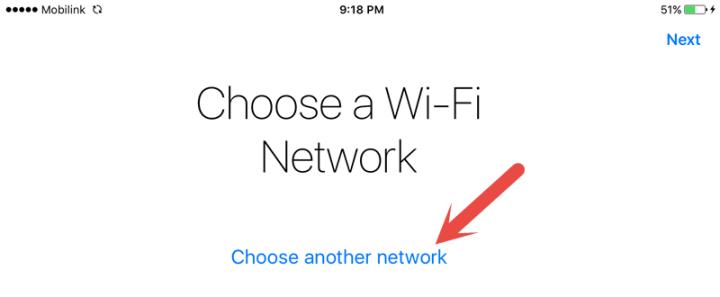 Choose a wifi network