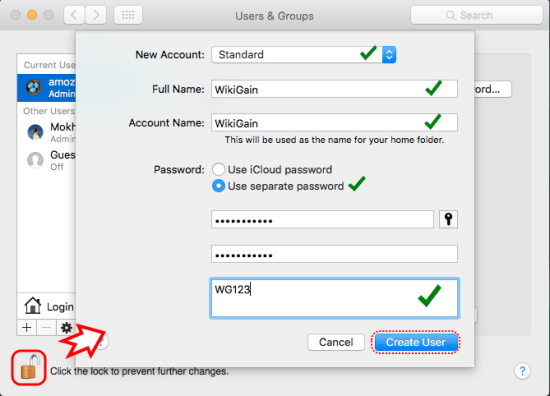 Create New Local User Account in Mac