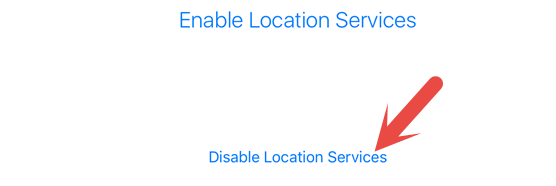 Enable or Disable Location Services