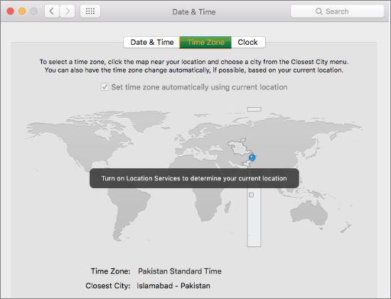 How To Change Mac Time Zone