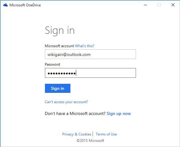 Microsoft OneDrive-Sign-in