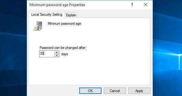 Minimum Password Age
