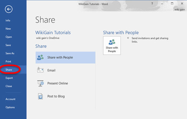 how to make a word document a shared file