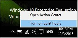 Configure Do Not Disturb in Windows 10