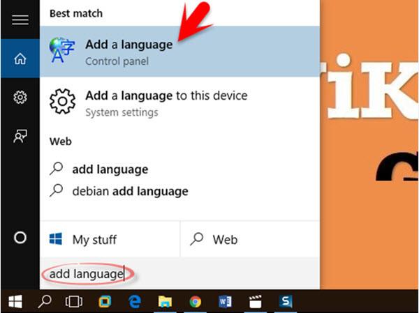 Windows 10 Add Language
