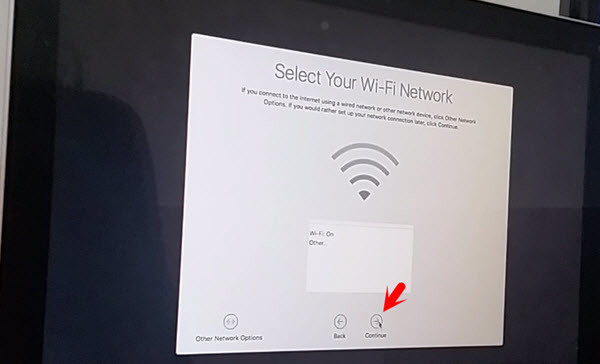 Select the WiFi Network