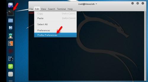 Change Kali Linux Terminal Background