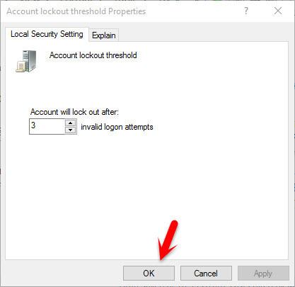 Account Lockout Threshold